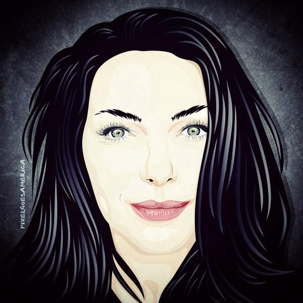 Laura_Prepon Vektor Illustration