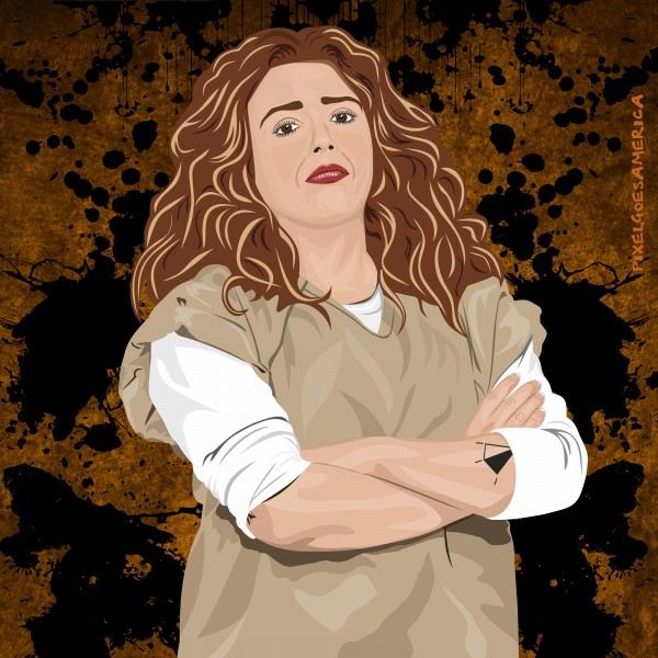 OITNB Nicky Nichols Vektor Illustration