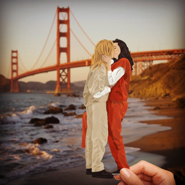 Vauseman in San Francisco an der Golden Gate Bridge