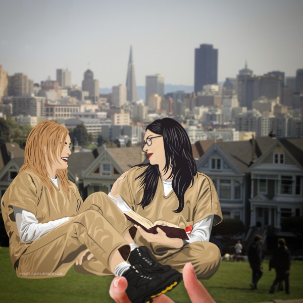 Vauseman in San Francisco bei den Painted Ladies