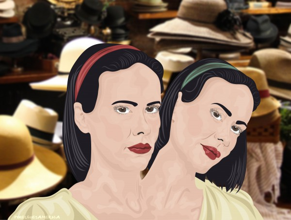 American Horror Story Bette & Dot Vektor Illustration