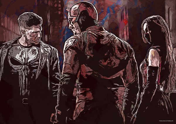Daredevil Season 2 Vektor Illustration