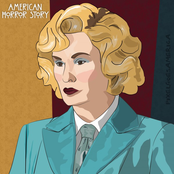 American Horror Story Elsa Mars Vektor Illustration