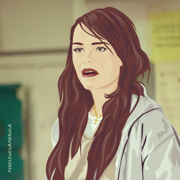 OITNB Pennsatucky Vektor Illustration
