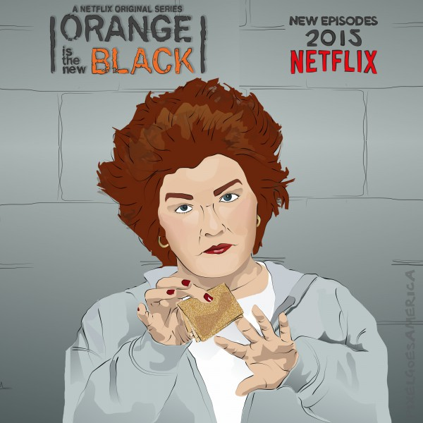 "OITNB Galina ""Red"" Reznikov Illustration 2014"