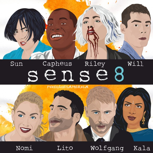 Sense8 Cast Vektor Illustration